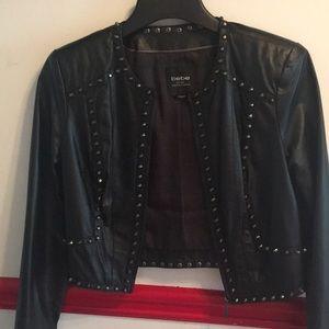 Classy Black Leather Biker Jacket